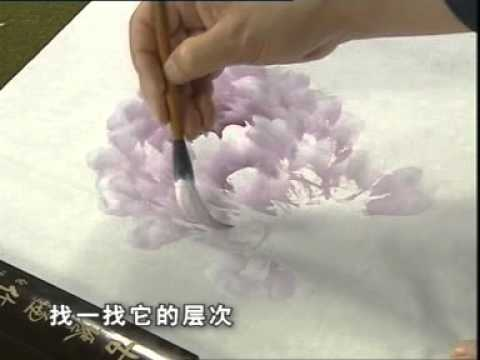 PEONY 2 of 4 - How to paint a Peony Chinese Style.
