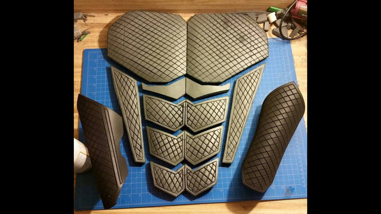 Eva Foam Templates | How To Make Clean Straight Detail Lines In Eva Foam Cosplay Armor By