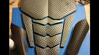 How to make clean straight detail lines in EVA foam cosplay armor by Griffin Cosplay