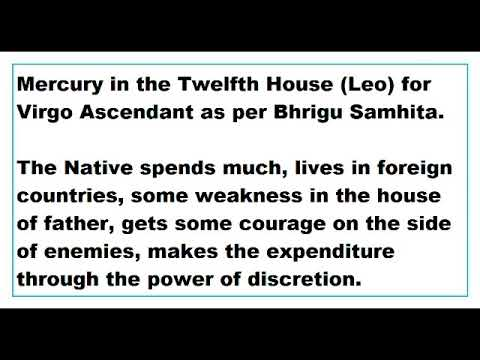 Mercury In The 12th House