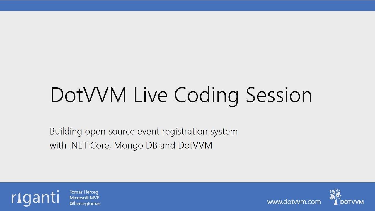 Building open source event registration system #1