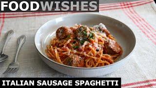 Italian Sausage Spaghetti - F๐od Wishes