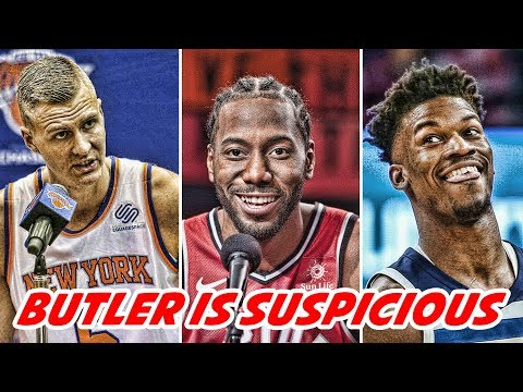 JIMMY BUTLER SUSPICIOUS OF WOLVES! Kristaps Porzingis NOT COMING BACK! Kyrie is STAYING! | NBA News