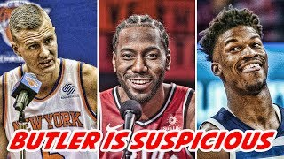 JIMMY BUTLER SUSPICIOUS OF WOLVES! Kristaps Porzingis NOT COMING BACK! Kyrie is STAYING!   NBA News