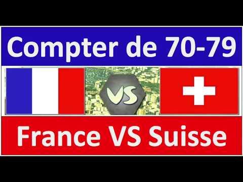 Compter de 70 à 79 France VS Suisse/Belgique/Canada