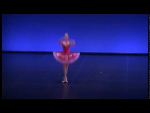 Katia Almayeva, 15, performs Paquita variation at Helsinki Int. Ballet Competition
