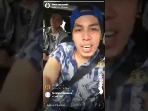 Enzo IG Live with Nadine Lustre part 1...July 17,2017