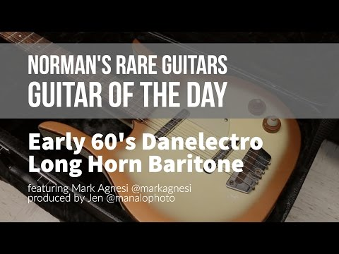 Norman's Rare Guitars - Guitar of the Day: Early 60's Danelectro Long Horn Baritone