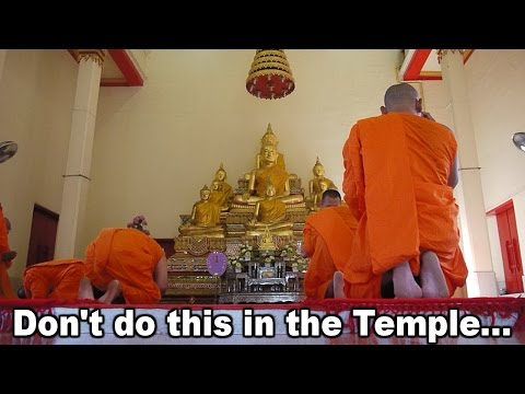 Don't do this in the Temple - Thailand