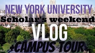 NYU CAMPUS TOUR & Scholar's Weekend VLOG!! (MLK Scholar)