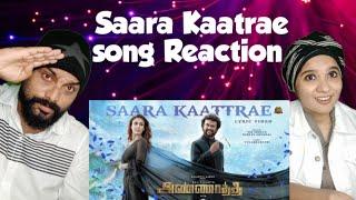 Saara Kaatrae -Lyric Video Reaction ❤|Annaatthe😍 |Rajinikanth | Imman| Sid Sriram| Shreya Ghoshal