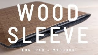 Grovemade Wood Sleeve For Ipad And Macbook