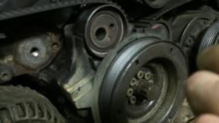 Оборвало болт ролика натяжителя ремня грм на Audi Allroad