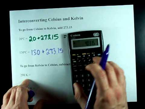 Calculate Kelvin; Celsius to Kelvin; Kelvin to Celsius
