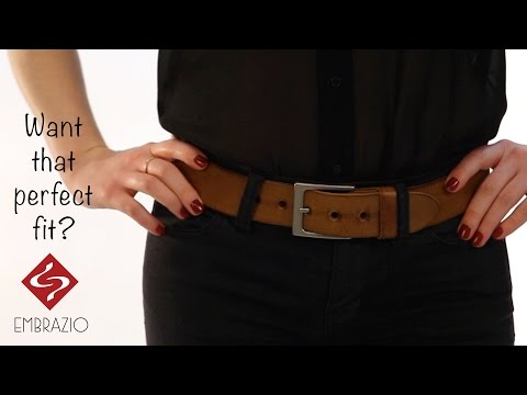 video:Embrazio's Handcrafted Leather LATO Curved Belt