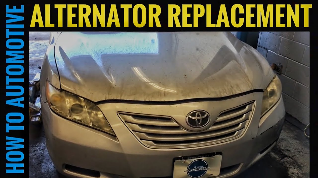 how to replace an alternator on a 2007 toyota camry with 2 4 l engine