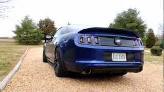 2013 mustang gt ford racing gt500 style axle back exhaust jba offroad x pipe idle and revving