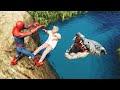 Gta 5 water ragdolls spider man vs shark ep 49 euphoria physics mp3