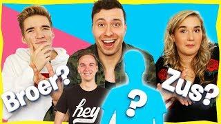 BROERS & ZUSSEN van YouTubers RADEN! Met Gio en Melanie