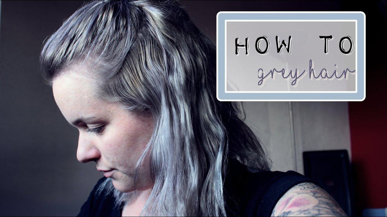 how to grey hair cheveux gris youtube - Coloration Gris Acier