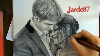 Drawing Bella And Edward From Twilight Saga By Juan Andres