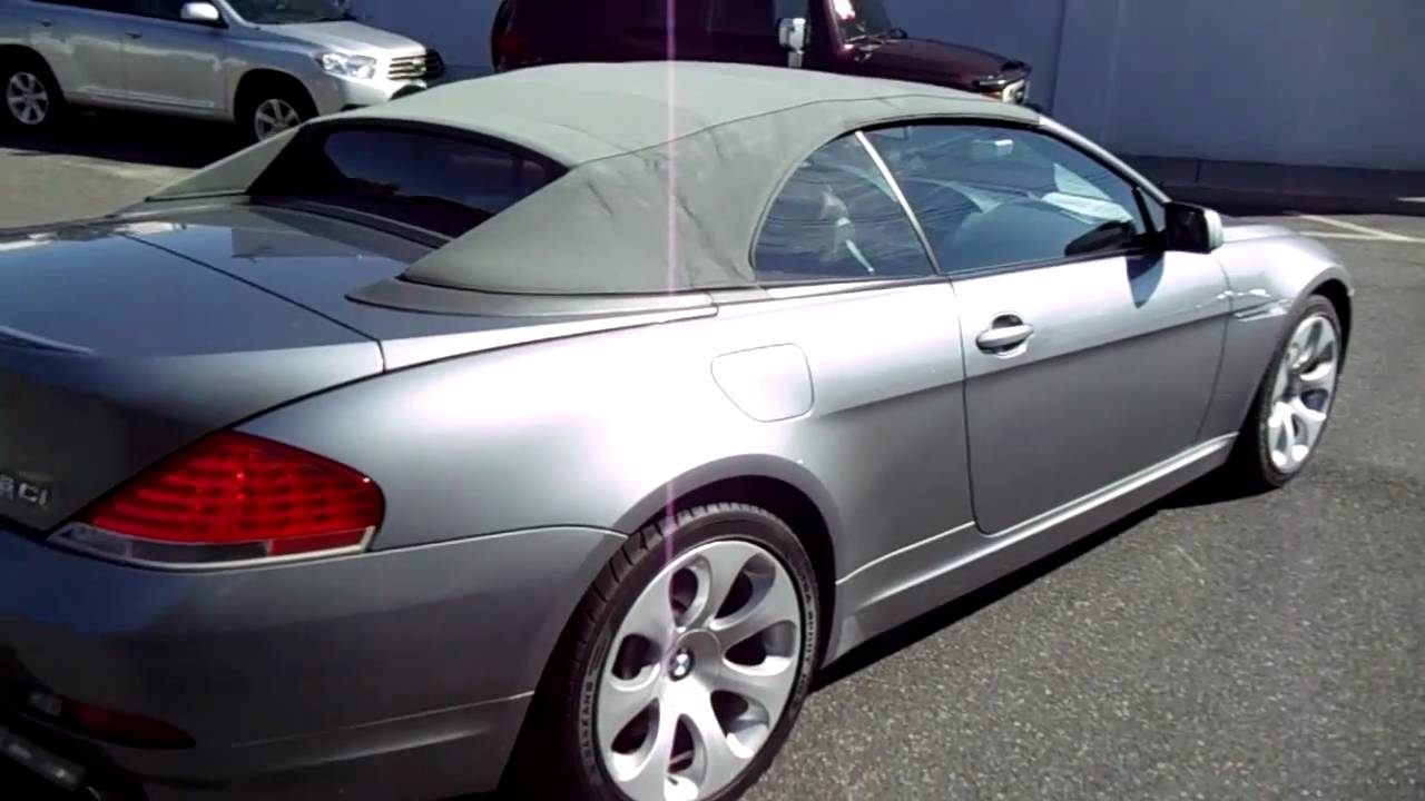 BMW Ci For SaleSMG Trans YouTube - 2004 bmw 645ci convertible for sale