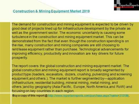 Construction & Mining Equipment Market 2019