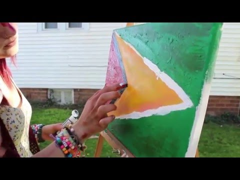 Painting the Guyanese Flag