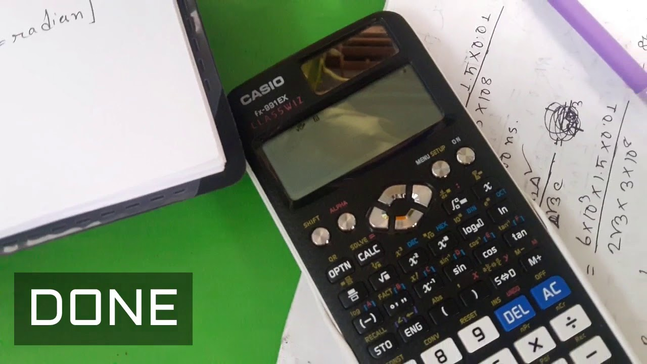 Calculator Mode Change Degree to Radian fx-991EX