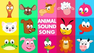 Animal sound song | Nursery Rhyme Videos For Toddlers | Cartoon Songs For Babies by Kids Tv