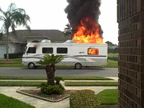 RV in flames.wmv