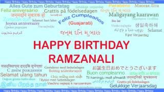 RamzanAli   Languages Idiomas - Happy Birthday