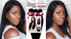 BARE & NATURAL VIRGIN HUMAN HAIR LACE CLOSURE AND BUNDLE DEAL (BLACK FRIDAY/CYBER MONDAY SALE)