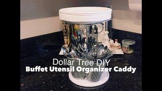 Dollar Tree DIY Party Buffet Organizer Caddy for Utensils   Easy $7