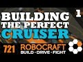 Robocraft - Building The Perfect Cruiser Part 1 Wheel and Gun Positioning