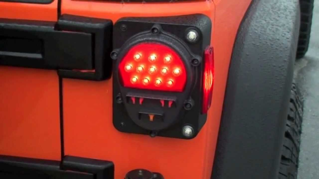 Jeep Jk Led Military Tail Lamp Youtube