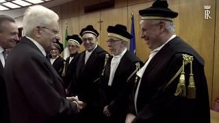 Mattarella interviene all\'insediamento del nuovo Presidente della Corte dei Conti