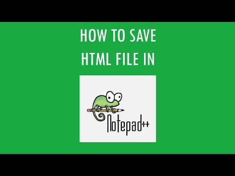 How To Save  HTML File In Notepad++