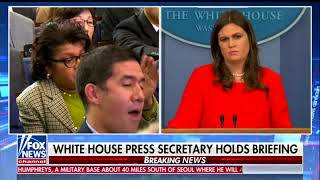 Sarah Huckabee Sanders to CNN's April Ryan 'Disgusting' to Suggest Trump Admin is Pro-Slavery