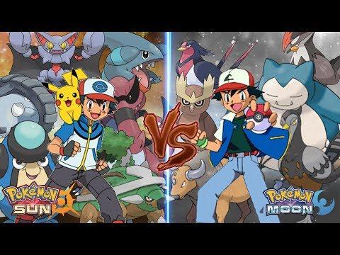Pokemon Sun and Moon Ash Vs Ash (Ground Type Vs Normal Type)