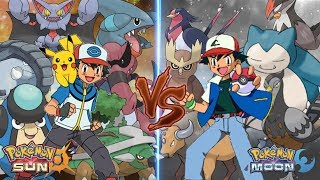 Pokemon Sun and Moon Ash Vs Ash (Ground Type Vs Normal Type)