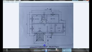 Download Simple house plan drawing, Autocad Sinhala, part (ii)