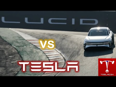 #224 #Lucid Air vs. Tesla Model S #Plaid Laguna Seca | EVTV | Teslacek