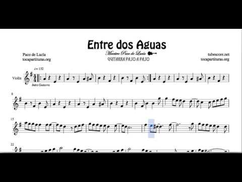 Entre Dos Aguas Sheet Music For Violin Spanish Flamenco Youtube