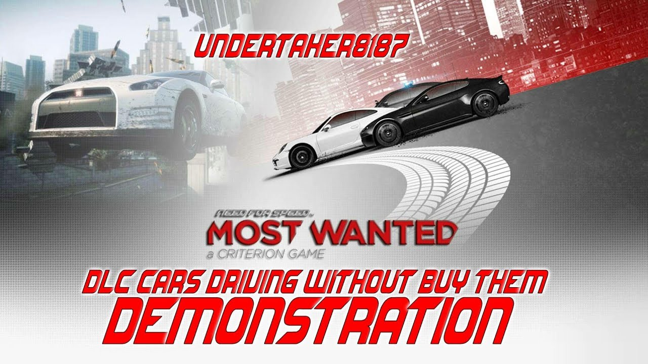 Need For Speed Most Wanted 2012 DLC Cars driving without buy them ...