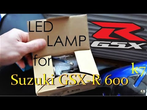 LED lamp in the Suzuki GSX-R 600 K7 | Installation and comparison | Lens | Jixer | Two brothers |