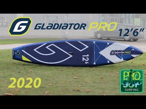 """Gladiator PRO 12'6"""" 2020 SUP review (Ukr, Rus, Eng sub)"""