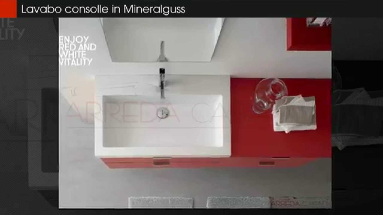 Mobile bagno moderno Rosso lucido Arcom Ak Ly.01 - YouTube