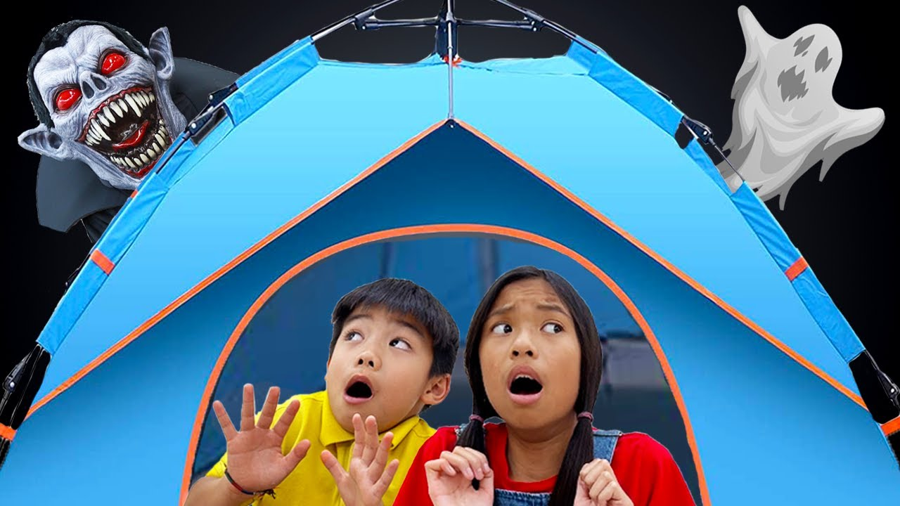 Wendy and Eric Go On Camping Adventure | Kids Camp in the Backyard Family Fun Activities