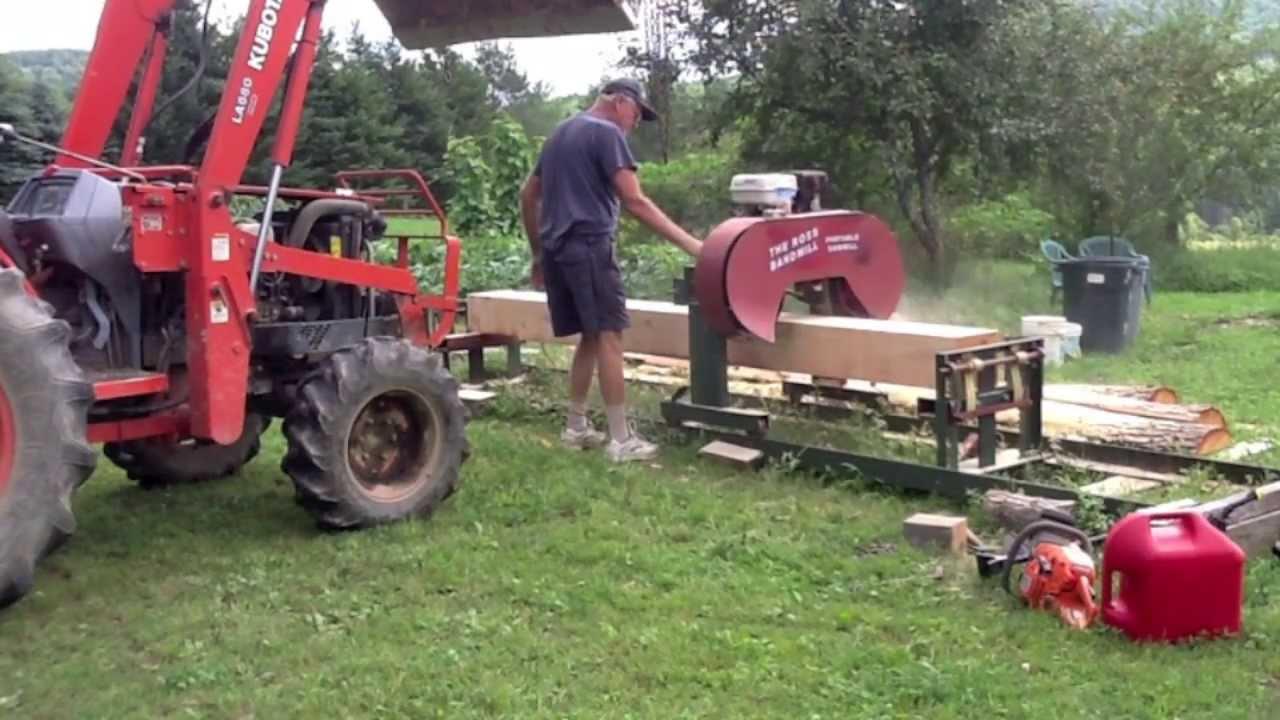 Ross Bandsaw ( Back yard sawmill) 1